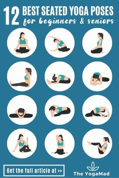 Yoga Sequence For Beginners, Yoga Flow Sequence, Yoga Sequences, Yoga Beginners, Seated Yoga Poses, Easy Yoga Poses, Beginner Yoga Poses, Yoga For Seniors, Gentle Yoga