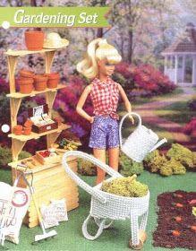 labores de esther. todo para barbie: Complementos para el jardin