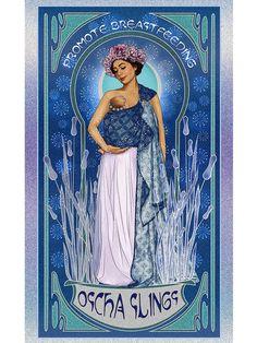 Art Print Art Nouveau 'Promote Breastfeeding' Oscha slings