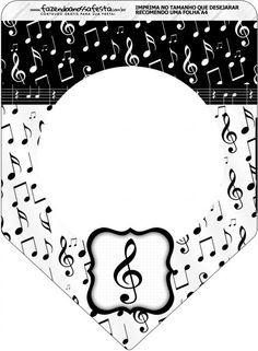 Bandeirinha Varalzinho Notas Musicais