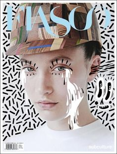Hattie Stewart & Fiasco ART MAGAZINE COVER COMPOSITION VISUAL GRAPHIC MIXER DESIGN **