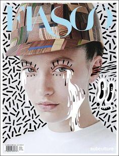 Hattie Stewart & Fiasco ART MAGAZINE COVER COMPOSITION VISUAL GRAPHIC MIXER DESIGN **