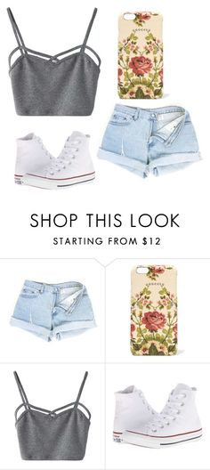 """""""Untitled #392"""" by farrahaqs on Polyvore featuring Gucci, WithChic and Converse"""
