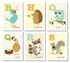 these are adorable- going to put these woodland alphabet cards on the wall in the reading area