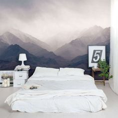 Do you think that your bedroom is missing something? I have a great idea for you. If you are seeking for something calm and simple then go for a wall mural. And even better. One