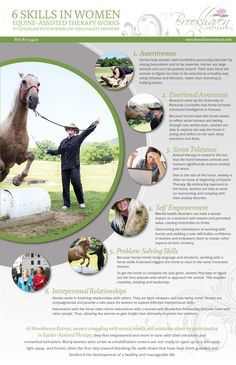 Infograph for Brookhaven Retreat's Equine Assisted Therapy for Women by Minava Design. www.minavadesign.com