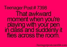 Emma did this in class the other day...and she accidentally hit me on purpose. -_-