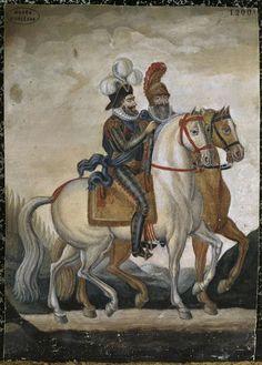 Henri IV et Sully à cheval