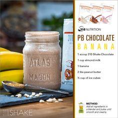 PB Chocolate Banana #310Shake