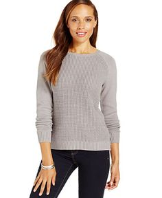 Karen Scott Textured Side-Button Sweater - Sweaters - Women - Macy's