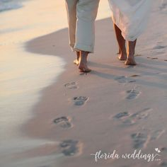 Together is a beautiful place to be. Let FloridaWeddings.com help you plan your dream beach destination wedding. We make it simple and affordable so you can focus on what matters most.  #weddings #footprintsinthesand #floridabeaches