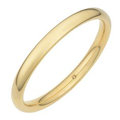 Adorn your wrist with this elegant Italian Oro Forte slip-on bangle. This bangle features a bright, yellow-gold color and offers dent-resistant durability for lasting goods looks.