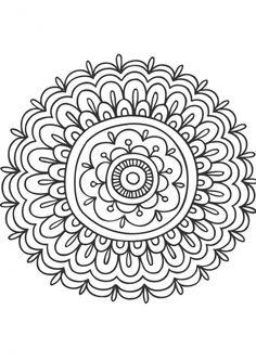 Mandala fleur 3 painted tables and chairs мандалы, раскраски Colouring Pages, Adult Coloring Pages, Coloring Books, Mandalas Painting, Mandalas Drawing, Doodle Drawings, Doodle Art, Mandala Panda, Mandala Anti Stress