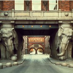 Entrance to the Carlsberg brewery, Copenhagen
