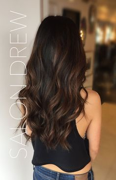 Image result for subtle balayage dark hair
