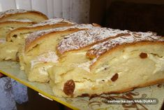 a kod Vas? Albanian Recipes, Croatian Recipes, Cheesecake Recipes, Cookie Recipes, Dessert Recipes, Bakery Recipes, Gourmet Recipes, Kolachi Recipe, Kiflice Recipe
