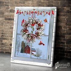 Christmas Wall Art Canvas, Canvas Wall Art, Canvas Prints, Canvas Material, Cotton Canvas, Wall Art Decor, Farmer, Rustic, Beautiful