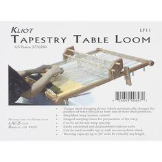 Lacis Kliot Tapestry Loom 20 inches Hard Wood (Tapestry Table Loom), Brown (Oak)