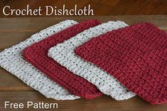 A simple and free crochet dishcloth pattern - perfect for beginners! This dishcloth pattern uses the half double crochet stitch. Easy Crochet Patterns, Free Crochet, Crochet Ideas, Beginner Crochet, Cloth Patterns, Afghan Patterns, Crochet Crafts, Crochet Projects, Yarn Projects