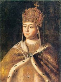 Portrait of Eudoxia Streshneva second wife of Tsar Michael I