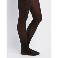 4b598a3f214f Charlotte Russe Shimmer Knit Tights ( 8.99) ❤ liked on Polyvore featuring  intimates