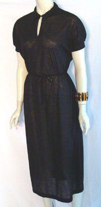 Mister Marty 80s Black Dress by Nelda's Vintage Clothing #vintage #black - just add a wide belt and voila!