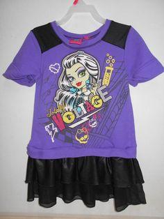 Purple Monster High Character Dress Comfortable Wear SIZE 6X Little Girl's Dress #MonsterHigh #Casual #Everyday