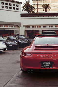 Porsche 911 Carrera Sexy in Red Porsche 911 Carrera 4s, Porsche 991, Porsche Cars, Ferdinand Porsche, Sexy Cars, Hot Cars, Volkswagen, Automobile, Top Luxury Cars