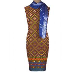 Suit From Gujarat In Blue & Multi With Embroidery