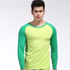 New Arrival Full Sleeve Sleep Tops For Men Men Sexy Wear Long Sleeve Sleep Shirt Thermal Underwear