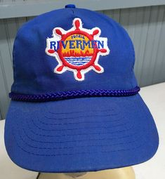e08e86d40 Vintage Peoria Rivermen Illinois NHL AHL Minor League Snapback Baseball Cap  Hat Minor League Baseball,