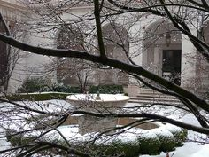 Freer Gallery of Art courtyard in winter Freer Gallery, Renaissance Fashion, United States, Spaces, Photo And Video, Landscape, World, Winter, Pictures