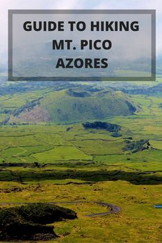 Mount Pico Reaching the Top of the Azores