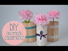 DIY faça você mesmo: decoração de casamento :: DIY wedding decor - YouTube