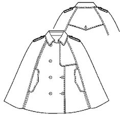 Cape pattern from Japanese site Fleur