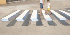 L'Inde utilise des Peintures 3D comme Casse-Vitesse - Chambre237