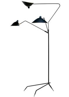 SERGE MOUILLE, Tripod floor lamp, 1951. Originally produced by Ateliers Serge Mouille, France. Re-production by Serge Mouille USA. / 1stDibs