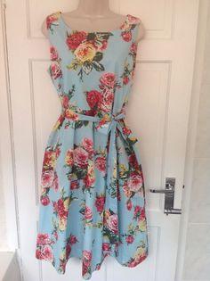Joules Bette Floral Dress  1950 s inspired Vintage uk 16 worn once Wedding