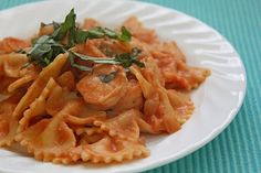 shrimp pasta with tomato cream sauce