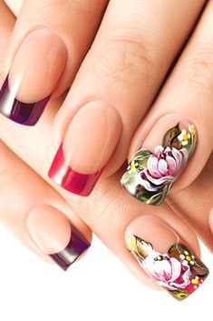 Latest Nail Art Trends Plus Techniques To Try This Evening! Latest Nail Art, New Nail Art, Cool Nail Art, Popular Nail Art, Special Nails, La Nails, Modern Nails, Best Nail Art Designs, Flower Nails