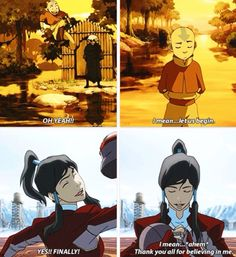The Legend of Korra/ Avatar the Last Airbender: the avatar knows how to keep their cool lol