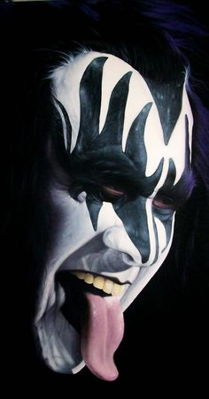 gene-simmons - got a spanking for climbing onto the bathroom sink & drawing his makeup on with a black crayon! (Think it was the sink climbing that got me the whoopin')
