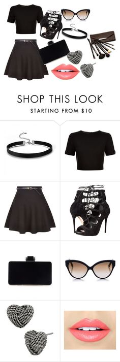 Do It With Flare by kaveridevkate on Polyvore featuring #TedBaker, #NewLook, #AlexanderMcQueen, #BetseyJohnson, #CutlerandGross, #BorgheseandFiebiger Skirts have always been around to help us girls look cute and sexy at the same time. But all of us don't it paired correctly, so let me help you. A black crop top with a Black belted skater skirt. Now time for high heels like the above ones. Sunglasses like the above one along with leather women chokers and Heart Rope stud Earrings. Now makeup…