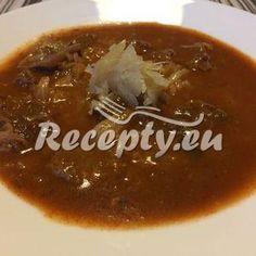 Vaření top receptu Segedínský guláš Crockpot, Chili, Soup, Pudding, Beef, Desserts, Meat, Tailgate Desserts, Deserts