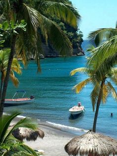 Anse Chastanet, St. Lucia, Caribbean. Wonderfully clear waters for snorkeling and secluded coves.