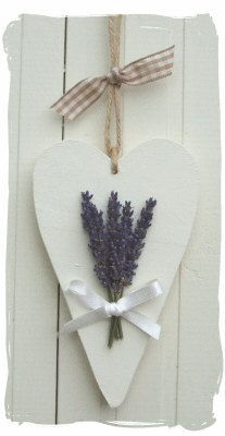 ~ Wooden Heart and Lavender Hanger...