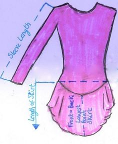 Fantastic info on measuring to assure custom fit! Joanie's Figure Skating Boutique of Newfoundland, Canada-Figure Skating Dresses, Custom Skating Dress, Skating Skirts, Skating Apparel
