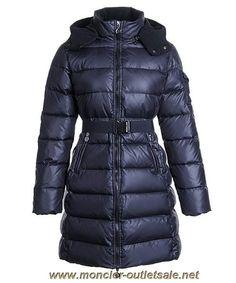 New Moncler Nantes Classic Hot Sell Women Coat Zip Hooded Navy Blue