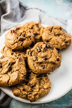 I know it sounds strange, but these Flourless Chickpea Peanut Butter Cookies are super delicious. They're made with chickpeas, peanut butter, and lightly sweetened with maple syrup or agave. They're naturally gluten-free + vegan and a tasty and healthy alternative to regular peanut butter cookies.   theendlessmeal.com   #peanutbuttercookies #cookies #vegan #glutenfree #chickpeas #desserts #healthydesserts #chickpeacookies