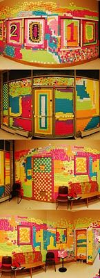 Wow...post-it note art...
